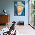 Van Gogh Petrol Pixel Wanddecoratie