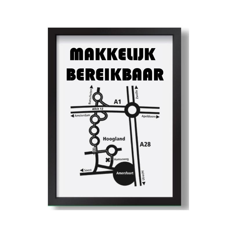 Routebeschrijving vanuit meubelboulevard Utrecht of Amersfoort