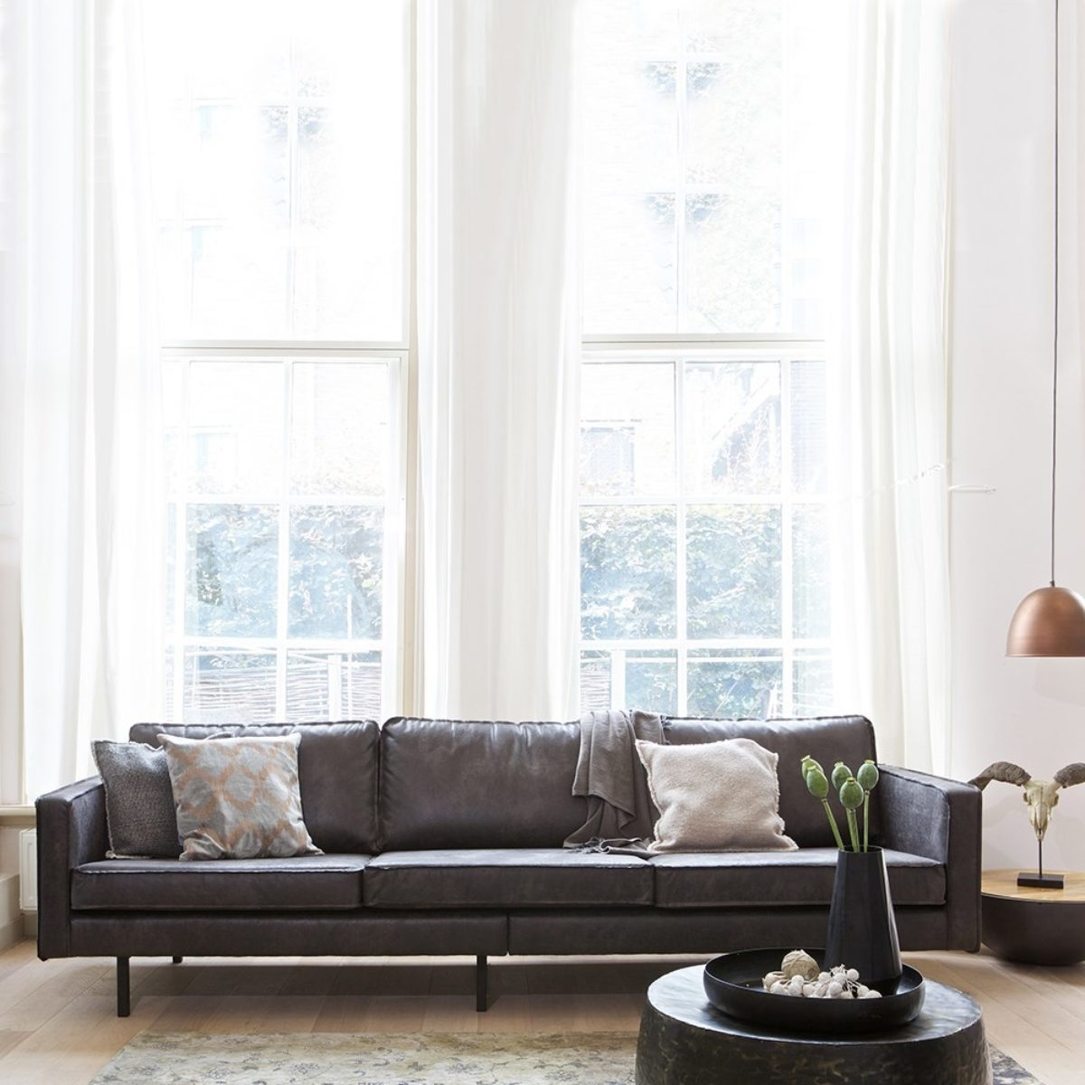 Rodeo 3 Seater Sofa in Black
