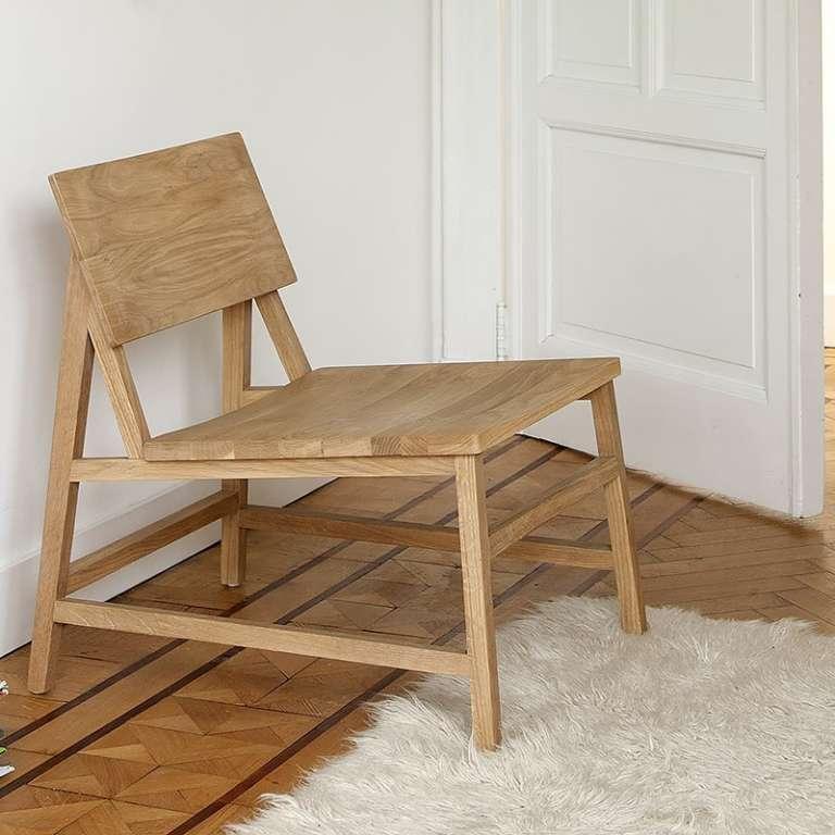 Ethnicraft Oak N2 lounge chair