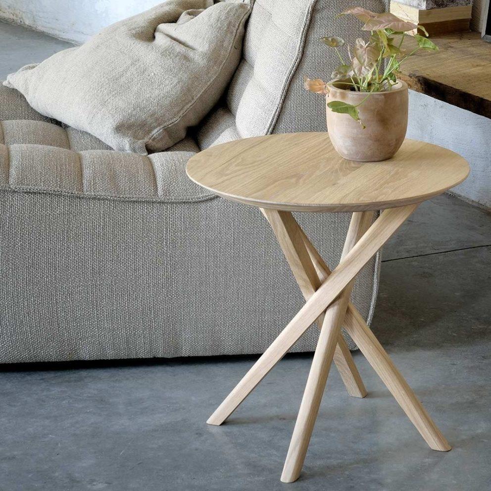 Ethnicraft mikado round side table oak 01