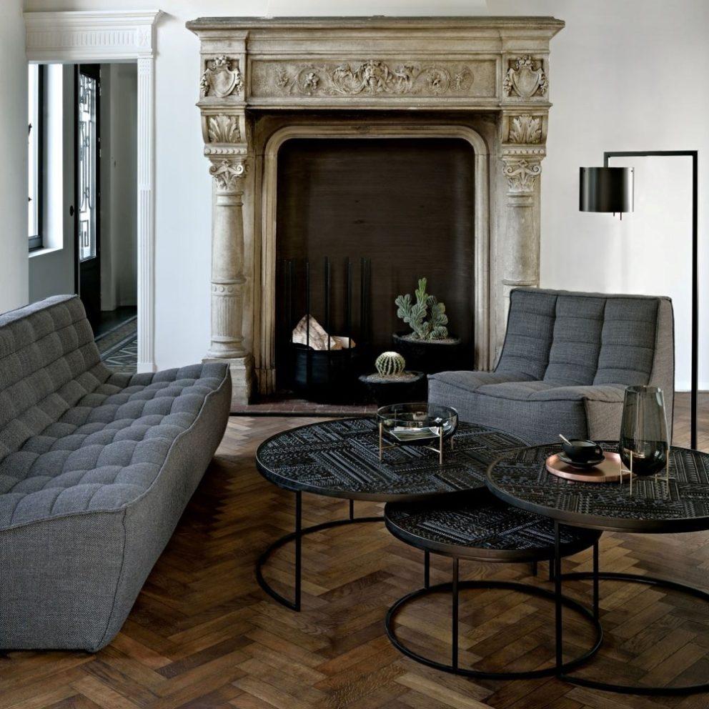 Ethnicraft N701 sofa 3 seater dark grey 02