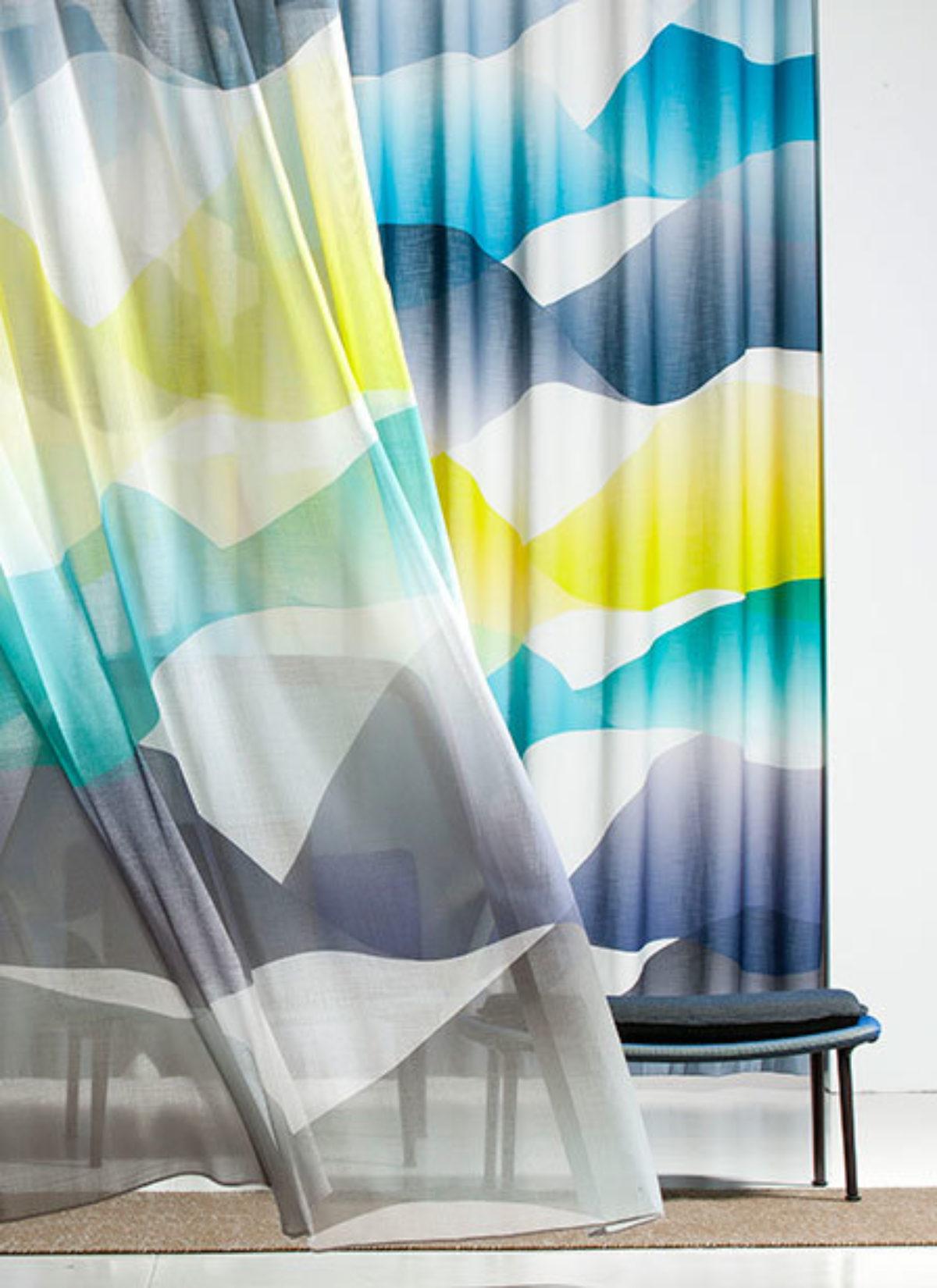 Kendix gordijnen in between vitrage stoffen collectie wave sfeer