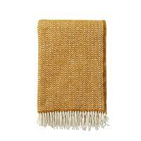 Klippan - Plaid Chevron caramel - woven wool throw