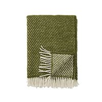 Klippan - Plaid Velvet avocado - woven wool throw