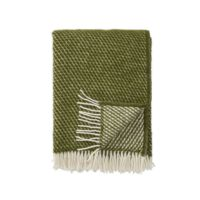 Klippan - Plaid Velvet avocado - woven wool throw