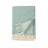 Klippan - Plaid Velvet duck egg blue - woven wool throw
