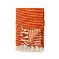 Klippan - Plaid Velvet rust - woven wool throw