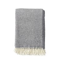 Klippan - Plaid Diamonds warm grey - woven wool throw
