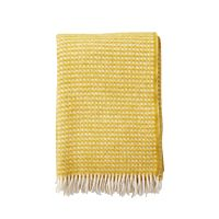 Klippan - Plaid Diamonds saffron - woven wool throw