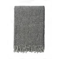 Klippan - Plaid Shimmer Grey - woven wool throw