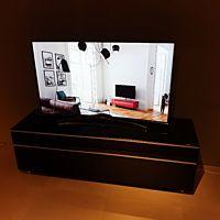 Scala meubel 165 cm zwart glas glossy.