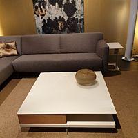CT90 salontafel wit met glas type 01291