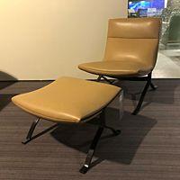 Juno fauteuil dark leder Loxton 3720 desert.