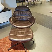 Design on Stock - Fauteuil Nylo dark leder Cera 4760 coffee