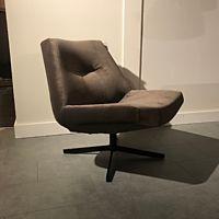 Cartel Living - Draaifauteuil Club stof Royal 97 oak - frame stervoet zwart
