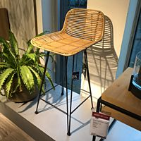 HK Living RAT0039 rattan bar stool naturel.