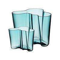 iittala Aalto vase set 160+95mm seablue