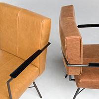 Bert Plantagie Brown - stoel Marigold uni-stoffering