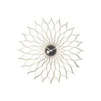 Vitra Sunflower Clock black/brass