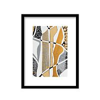 Urban Cotton - Labyrinth Silver incl. zwarte lijst - Maat S
