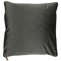 Claudi - Kussen Astrid Dark taupe + piping diamante gold - 40x60 cm.