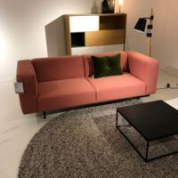 Studio Henk - Bank Giuseppe 2.5-zits frame zwart/light 3041 Steelcut Trio 3 636