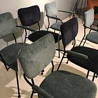 Zuiver - 6x Chair Benson - Dark Blue & Grey Blue
