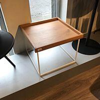 Bodilson - Coffeetable Perfect - oak veneer white metal