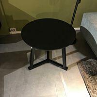 Oak Tripod side table black 70/70/60.