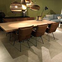 Jess Design - Vidar eetbank 3-zits & 3x eetkamerstoel Sanne
