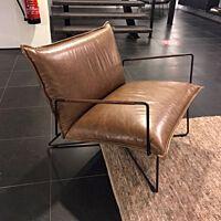 Jess Design - Earl fauteuil met arm laag leer Luxor Light Grey.