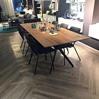 Bodilson - tafel Slimm eiken rustic naturel oil - poten metal black