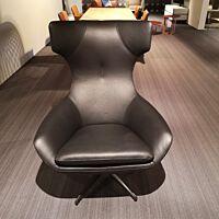 Leolux - fauteuil Caruzzo 662-101 Leder Senso 1000 black