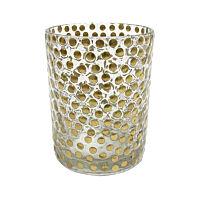 HK Living -  aka3323 handcrafted glass tealight brass studs