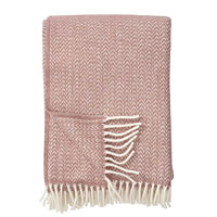 Klippan - plaid Chevron classic wool throw nude 130x200 cm.
