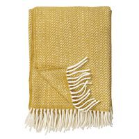 Klippan - plaid Chevron classic wool throw yellow 130x200 cm.