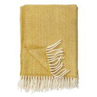 Klippan - plaid Chevron classic wool throw yellow 130x200 cm.