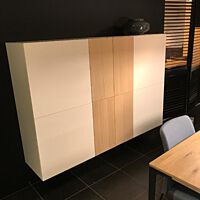 Coesel - 2x dressoir Capri 280 hangend - Matlak wit + eiken white