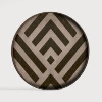 Ethnicraft - Houten dienblad - Graphite Chevron - 30 x 30 x 3 cm