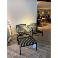 Hay - Lounge chair low Palissade - power coated steel kleur Anthracite