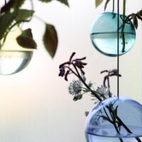 Studio About - Hanging Flower Bubble - Medium - Cyan