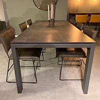 Karat - tafel Tables to love TZV100x240+70 iron grey - frame grafiet