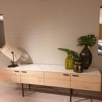 Bert Plantagie Brown - Dressoir Ceder bovenblad dekton entzo naturel 240x45x73,5 cm