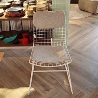 HK FUR0019 metal wire chair white.