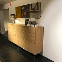 Oak Ligna sideboard high - 4 opening doors.