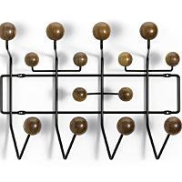Vitra - Kapstof Hang it all - frame chocolade - bollen notenhout
