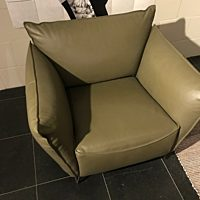 My Home Fauteuil XL leer Royal Olive.