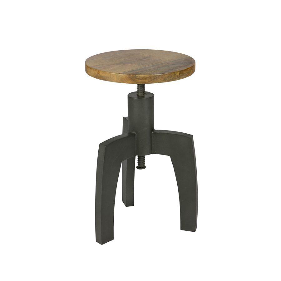 Be Pure - 800607-Z Space metalen kruk met houten top