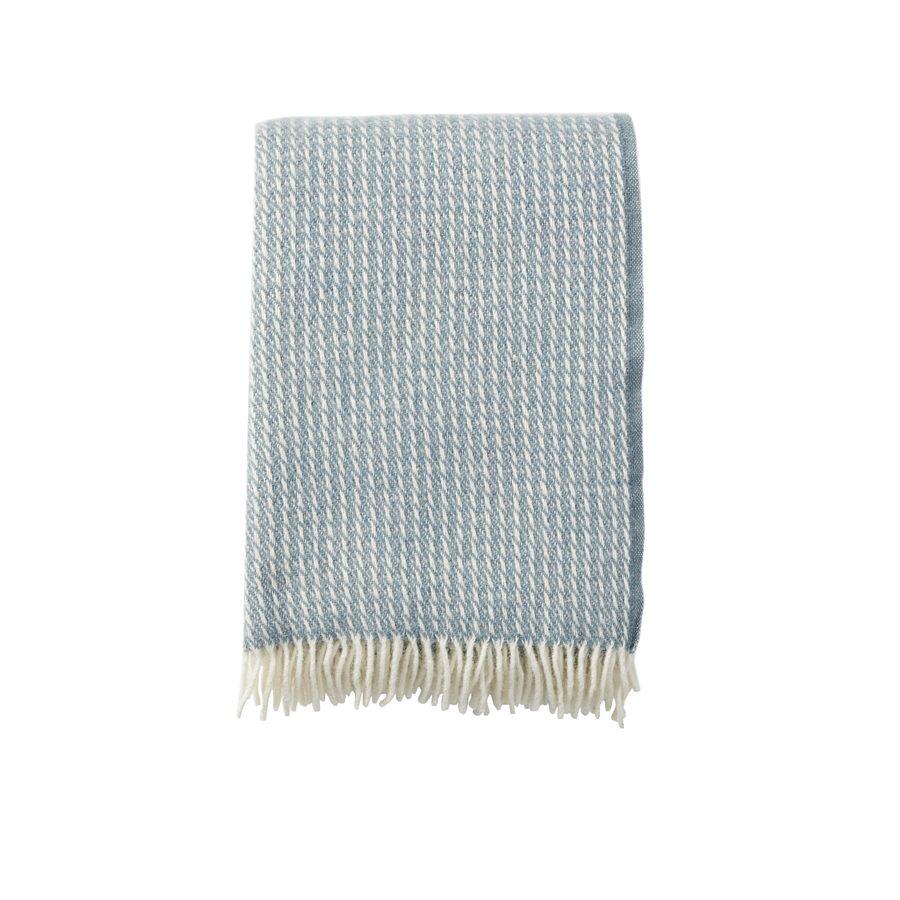 Klippan - Plaid Line dove blue - woven wool throw